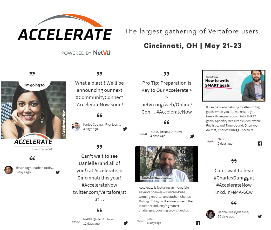 Connect with Accelerate, powered by NetVU