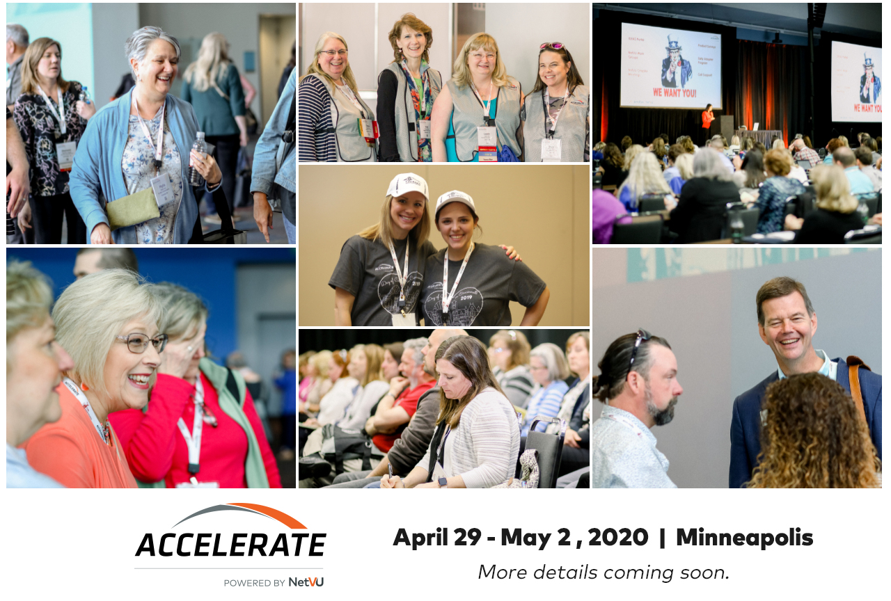 Accelerate, powered by NetVU - Minneapolis | April 29 -May 2, 2020